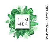summer exotic and tropic... | Shutterstock .eps vector #659441368