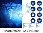 3d illustration of molecule... | Shutterstock . vector #659443600