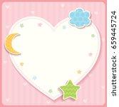 cute heart template card design ... | Shutterstock .eps vector #659445724