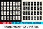 black and white domino full set ... | Shutterstock .eps vector #659446786