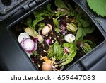 Compost Bin With Food Scraps...