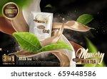 milk tea instant drink ad ...   Shutterstock .eps vector #659448586
