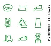 land icons set. set of 9 land... | Shutterstock .eps vector #659451268