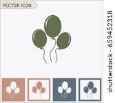 balloon icon vector | Shutterstock .eps vector #659452318