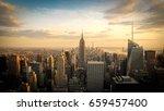 new york city skyline with... | Shutterstock . vector #659457400