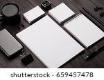corporate identity template  ... | Shutterstock . vector #659457478