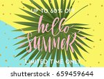 summer greeting cards and... | Shutterstock .eps vector #659459644