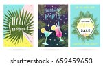 summer greeting cards and... | Shutterstock .eps vector #659459653