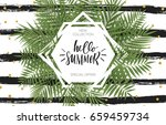 summer greeting cards and... | Shutterstock .eps vector #659459734