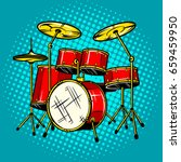 drum set musical instrument pop ... | Shutterstock .eps vector #659459950