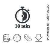 timer sign icon. 30 minutes... | Shutterstock .eps vector #659460100