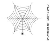 spider web with spider on white ... | Shutterstock . vector #659461960