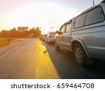 rush hour traffic congestion. | Shutterstock . vector #659464708