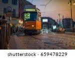 street view with tram   Shutterstock . vector #659478229