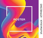 abstract colorful poster. wave... | Shutterstock .eps vector #659482360