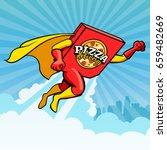 symbol  vector logo of pizza...   Shutterstock .eps vector #659482669