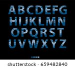 vector of stylized blue font... | Shutterstock .eps vector #659482840