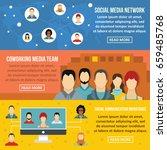 social network banner...   Shutterstock . vector #659485768