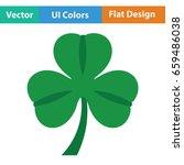 shamrock icon. flat color...