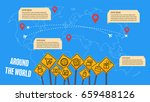 infographic traveling together... | Shutterstock .eps vector #659488126