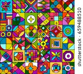 abstract geometric pattern for... | Shutterstock .eps vector #659488510