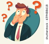 thinking business man character.... | Shutterstock .eps vector #659488618