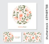 vector business cards template... | Shutterstock .eps vector #659489788
