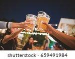 cheers to the best friends... | Shutterstock . vector #659491984