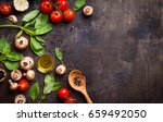raw ingredients for cooking.... | Shutterstock . vector #659492050