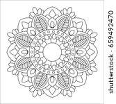 flower mandala vector...   Shutterstock .eps vector #659492470