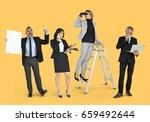 diverse business people set... | Shutterstock . vector #659492644