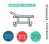 Hospital Trolley Icon. Hospita...