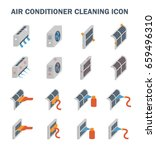 air conditioner and part... | Shutterstock .eps vector #659496310