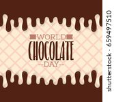world chocolate day. vector... | Shutterstock .eps vector #659497510