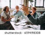 young women listening to...   Shutterstock . vector #659498308