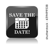 save the date icon. internet... | Shutterstock . vector #659499538