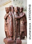 statues of diokletian and three ...