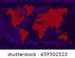 3d textured world map  | Shutterstock . vector #659502523