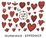 heart doodles | Shutterstock .eps vector #659504419