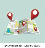 you are here  pin location icon ... | Shutterstock .eps vector #659504698