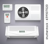 air conditioner isolated... | Shutterstock .eps vector #659507020