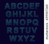 crystal texture font. vector... | Shutterstock .eps vector #659507260