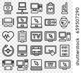 monitor icons set. set of 25... | Shutterstock .eps vector #659507290