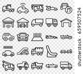 automobile icons set. set of 25 ... | Shutterstock .eps vector #659507524