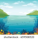 cloudy blue sky above the... | Shutterstock .eps vector #659508520