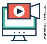 multimedia vector icon   Shutterstock .eps vector #659510653