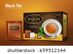 black tea box and handy package ... | Shutterstock .eps vector #659512144