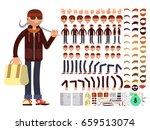 thief or bandit vector... | Shutterstock .eps vector #659513074