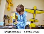children collect an airplane... | Shutterstock . vector #659513938