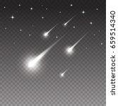 white falling meteorites and... | Shutterstock .eps vector #659514340